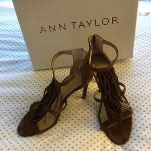 Ann Taylor Tara Fringe Suede Sandal